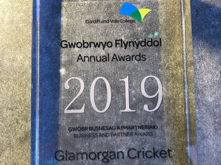 Glamorgan awarded with 2019 Business and Partner Award by CAVC